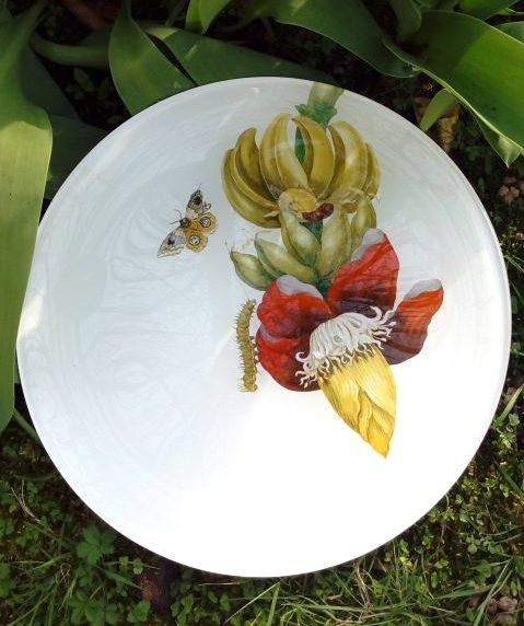 Piatto decorativo da parete Sybilla - Casco di banane